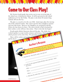 Read and Succeed Comprehension Level 4: Author's Purpose Passages and Questions