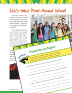 Read and Succeed Comprehension Level 4: Proposition and Support Passages and Questions