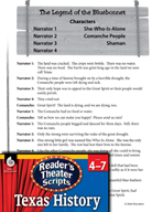 Reader's Theater Texas: The Legend of the Bluebonnet
