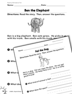 Reading Informational Text: Answering Questions Practice