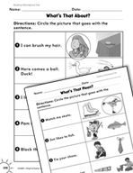 Reading Informational Text: Matching Words to Pictures Practice