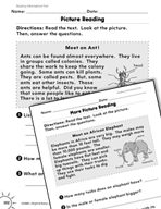 Reading Informational Text: Reading Picture Diagrams Practice