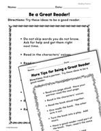 Reading Literature: Be a Great Reader Practice