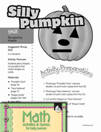 Recognizing Shapes - Silly Pumpkin Activity