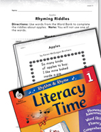 Rhythm and Rhyme Literacy Time: Activities for Apples