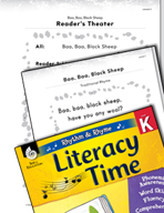 Rhythm and Rhyme Literacy Time: Activities for Baa, Baa, Black Sheep