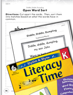 Rhythm and Rhyme Literacy Time: Activities for Diddle, Diddle, Dumpling