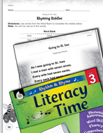 Rhythm and Rhyme Literacy Time: Activities for Going to St. Ives