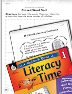Rhythm and Rhyme Literacy Time: Activities for If I Could Live in a Dollhouse