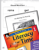Rhythm and Rhyme Literacy Time: Activities for It's Raining, It's Pouring