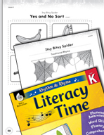 Rhythm and Rhyme Literacy Time: Activities for Itsy Bitsy Spider