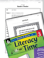 Rhythm and Rhyme Literacy Time: Activities for Jack Sprat