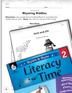 Rhythm and Rhyme Literacy Time: Activities for Jack and Jill