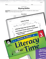 Rhythm and Rhyme Literacy Time: Activities for Little Bo Peep