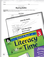 Rhythm and Rhyme Literacy Time: Activities for Little Miss Muffet