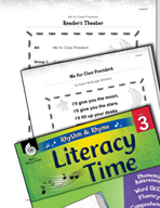 Rhythm and Rhyme Literacy Time: Activities for Me for Class President