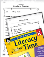 Rhythm and Rhyme Literacy Time: Activities for Molly, Molly