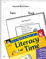 Rhythm and Rhyme Literacy Time: Activities for My Dog Joe