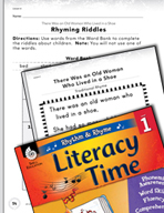 Rhythm and Rhyme Literacy Time: Activities for Old Woman Who Lived in a Shoe