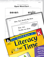 Rhythm and Rhyme Literacy Time: Activities for One, Two, B