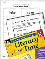 Rhythm and Rhyme Literacy Time: Activities for Pat-A-Cake,