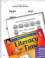 Rhythm and Rhyme Literacy Time: Activities for Peter, Pete