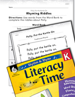 Rhythm and Rhyme Literacy Time: Activities for Polly, Put the Kettle On