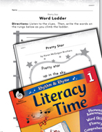Rhythm and Rhyme Literacy Time: Activities for Pretty Star