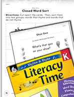 Rhythm and Rhyme Literacy Time: Activities for Shoe Goo