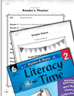 Rhythm and Rhyme Literacy Time: Activities for Simple Simon