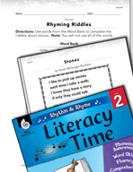 Rhythm and Rhyme Literacy Time: Activities for Stones