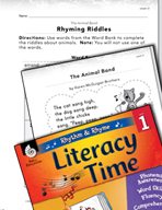 Rhythm and Rhyme Literacy Time: Activities for The Animal Band