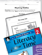 Rhythm and Rhyme Literacy Time: Activities for The Lazy Cat