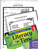 Rhythm and Rhyme Literacy Time: Activities for The Monster Under My Bed