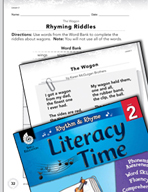 Rhythm and Rhyme Literacy Time: Activities for The Wagon
