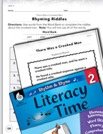 Rhythm and Rhyme Literacy Time: Activities for There Was a Crooked Man