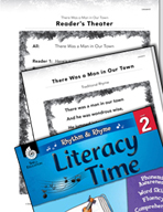 Rhythm and Rhyme Literacy Time: Activities for There Was a