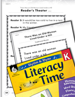 Rhythm and Rhyme Literacy Time: Activities for There Was an Old Woman