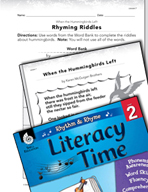 Rhythm and Rhyme Literacy Time: Activities for When the Hummingbirds Left
