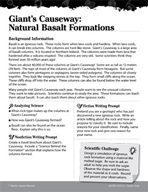 Rocks and Minerals Inquiry Card - Giant's Causeway Natural Basalt Formations