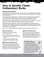 Rocks and Minerals Inquiry Card - How to Identify Clastic Sedimentary Rocks