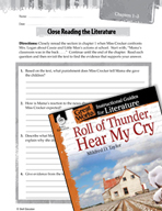 Roll of Thunder, Hear My Cry Close Reading and Text-Dependent Questions (Great Works Series)
