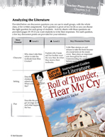Roll of Thunder, Hear My Cry Leveled Comprehension Questions (Great Works Series)