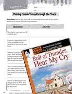 Roll of Thunder, Hear My Cry Making Cross-Curricular Conne
