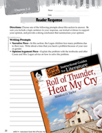 Roll of Thunder, Hear My Cry Reader Response Writing Prompts (Great Works Series)