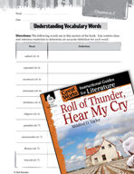 Roll of Thunder, Hear My Cry Vocabulary Activities (Great Works Series)