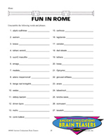 Rome Critical Thinking Activities and Brain Teasers
