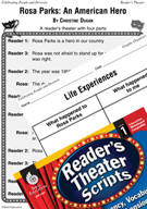 Rosa Parks - An American Hero Reader's Theater Script and Lesson