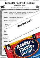 Saving the Red-Eyed Tree Frog Reader's Theater Script and Lesson