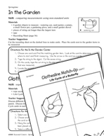 Seasonal Learning Centers - Springtime in the Garden